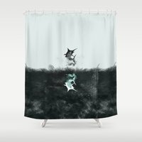 knight Shower Curtains featuring Under Knight by Daniac Design