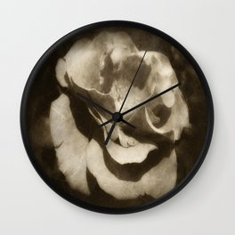 Rosas Moradas 3 Antiqued Wall Clock