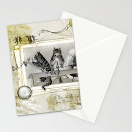 music & cats, original digital art Stationery Cards