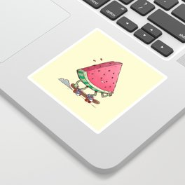 Watermelon Slice Skater Sticker