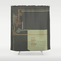 lesbian Shower Curtains featuring New Technology Commands by Schwebewesen • Romina Lutz