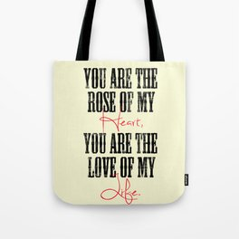 "Johnny Cash ""You Are the Rose of My Heart"" Tote Bag"