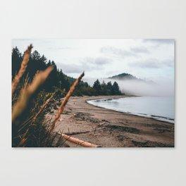 Foggy Washington coast morning Canvas Print