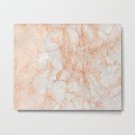 Paper Marble Texture Metal Print