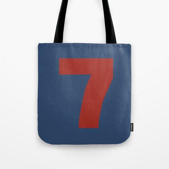 Number 7 Tote Bag
