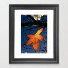 Winter Leaf Framed Art Print