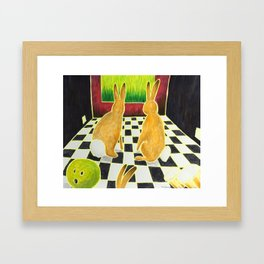 Bongo Bunnies in the Basement with a Bowling Ball Framed Art Print