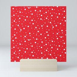 Red and White Polka Dots Mini Art Print