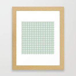 Buffalo Checks in Sage Green and White Framed Art Print