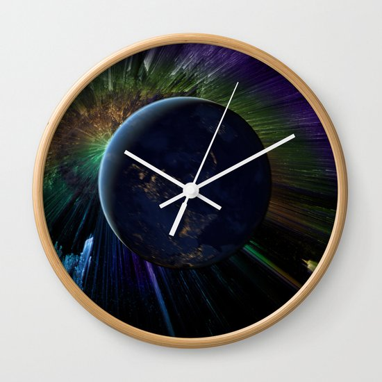 You Run to Catch Up With the Sun (But It's Sinking) Wall Clock