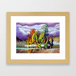 AJ's Little Island by Amanda Martinson Framed Art Print
