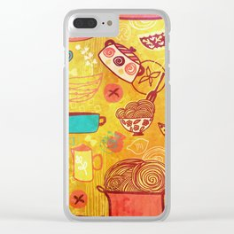 Pasta Clear iPhone Case
