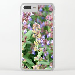 A riot of blooms Clear iPhone Case