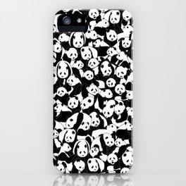 Less Hate More Panda iPhone Case