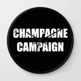 Champagne Campaign Mmm Bubbles Wall Clock