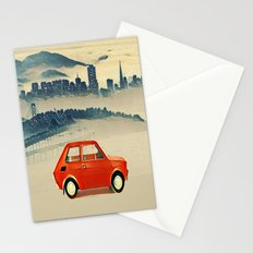 Red Polski Fiat  Stationery Cards