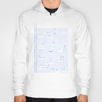 notebook Hoodies featuring Fuzzy Homework {clean} by Tobe Fonseca
