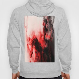 In Pain - Red And Black Abstract Hoody