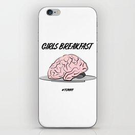 Brain snack iPhone Skin