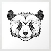 panda Art Prints featuring Panda by Andreas Preis