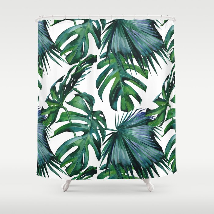 Tropical Palm Leaves Classic Shower Curtain