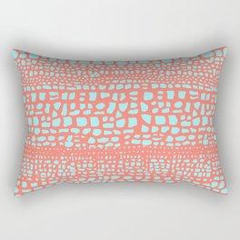 Orange crocodile Rectangular Pillow