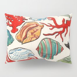Sea Life Watercolor Pillow Sham