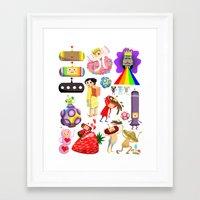 katamari Framed Art Prints featuring Katamari Characters by Lil' UFO!