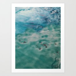sea snow Art Print