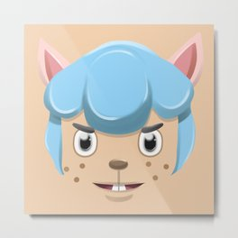 Animal Crossing Cyrus Metal Print