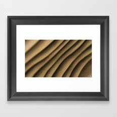 Clay Waves Framed Art Print