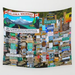 Watson_Lake Sign-Post Forest, YT, Canada Wall Tapestry