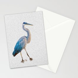 Blue Heron Silhouette Stationery Cards