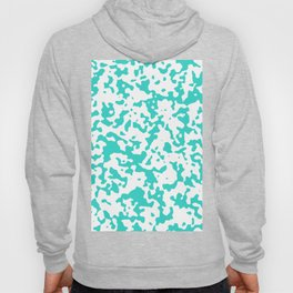 Spots - White and Turquoise Hoody