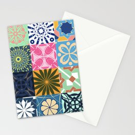 Middle Eastern Tiles - Geometric Pattern Stationery Cards