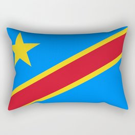 National flag of the Democratic Republic of the Congo, Authentic version (to scale and color) Rectangular Pillow