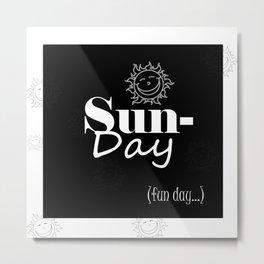Sunday Metal Print