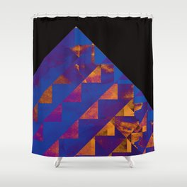 Blue Mountains Abstract Shower Curtain