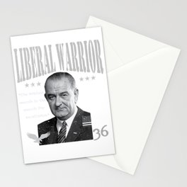 Lyndon B. Johnson | Liberal Warrior | The noblest search is the search for excellence.  Stationery Cards