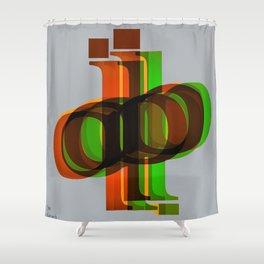 La ballade des lettres Shower Curtain