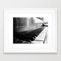 black keys Framed Art Prints featuring Black Keys by Kylie Kotraba