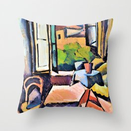 Interior - Joaquin Torres Garcia Throw Pillow