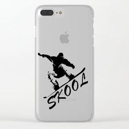 Boarding Skool -Snowboarding Clear iPhone Case
