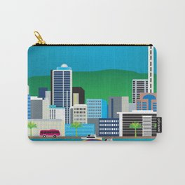 Auckland, New Zealand - Skyline Illustration by Loose Petals Carry-All Pouch