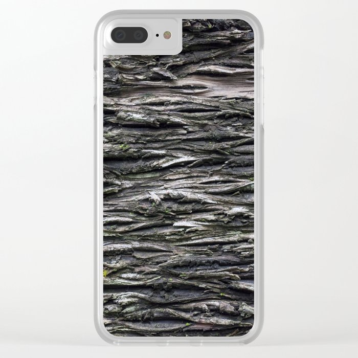 Textured Bark Clear iPhone Case