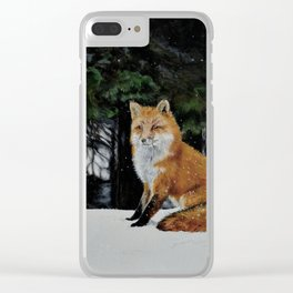 Red Fox of Algonquin by Teresa Thompson Clear iPhone Case