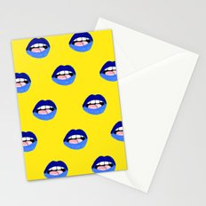 Blue Lips Stationery Cards