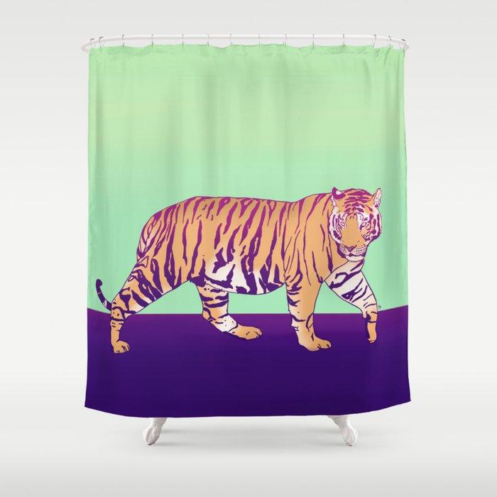 Tiger Under The Sun Shower Curtain
