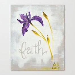 Faith Wild Iris by Ainé Daveéd Canvas Print