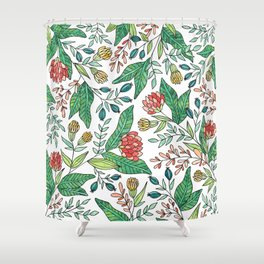 Wildflower Pattern - Full Color Shower Curtain